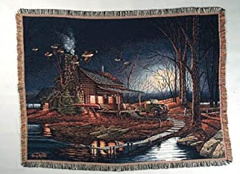 Moonlight Retreat Tapestry Throw by Terry Redlin