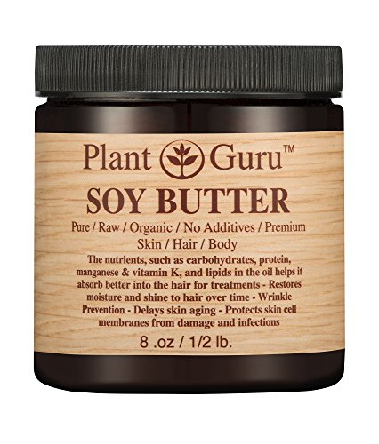 Soy Body Butter 8 oz. 100% Pure Raw Fresh Natural Cold Pressed. Skin Body and Hair Moisturizer, DIY Creams, Balms, Lotions, Soaps. - Aging Body Balm