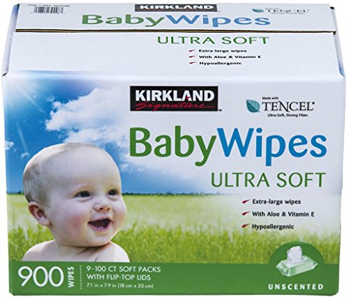 3 Wholesale Lots Kirkland Signature Baby Wipes Ultra Soft, 2700 Wipes Total