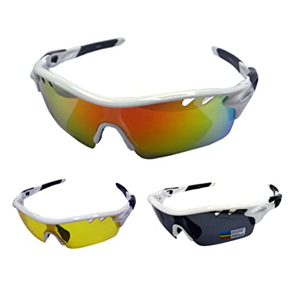 4cfe82d2929 Foritone Luxplus Polarized Sports Sunglasses with 3 Interchangeable Lenses  for Men Women Golf Baseball Volleyball Fishing