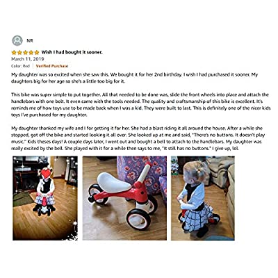 BEKILOLE Baby Balance Bike- Baby Bicycle for 10-24 Months, Perfect as First Bike| First Birthday Gift, Ideal Ride on Toys for 1 Year Old (Giraffe): Sports & Outdoors