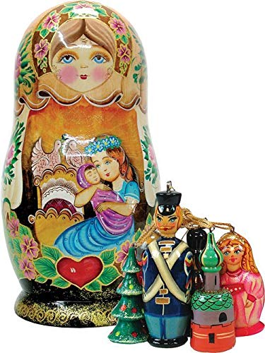 - Motherly Love Nesting Doll with Ornaments Russia Collection by G DeBrekht 130731