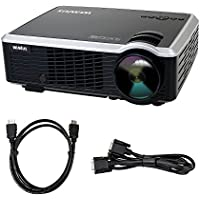 Projector, Video Projector LCD 3000 Lumens Full HD Multimedia Home Theater Portable Mini Projector Support 1080P for Home Cinema /Video Games /Movie Night