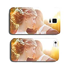 Young wedding couple on summer meadow cell phone cover case Samsung S6