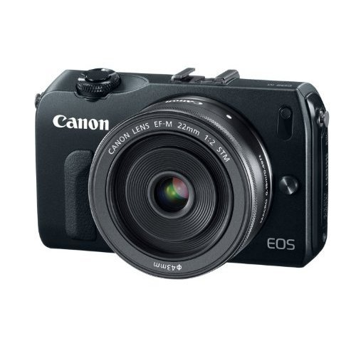Canon EOS M 18.0 MP Compact Systems Camera with EF-M18-55mm IS, 22mm f/2 STM Lens and Speedlite 90EX Flash Black
