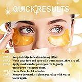 24K Gold Powder Gel Collagen Under Eye Masks