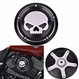 Frenshion Black Skull Motorcycle Deep Cut CNC Cover Air Filter Cover Aluminum Decorative Accessories For Harley Street XG500 750 2015 2016