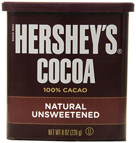 Hershey's Cocoa, Unsweetened, 8-Ounce (Hersheys Chocolate Hot Chocolate)