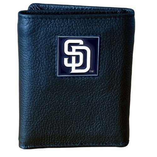 MLB San Diego Padres Genuine Leather Tri-fold ()
