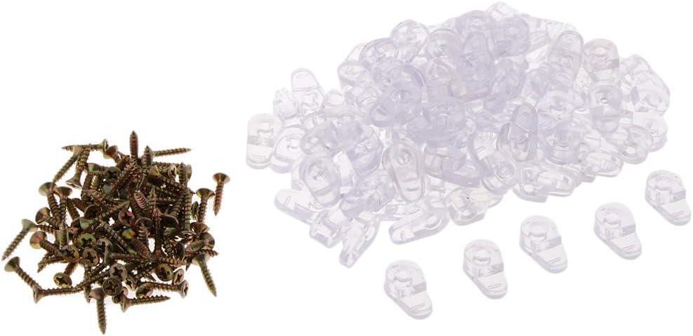 200x Transparente Kunststoff Einstellbarer Glashalter Glasklemme Glashalterungen Glas Klemmhalter Befestigen