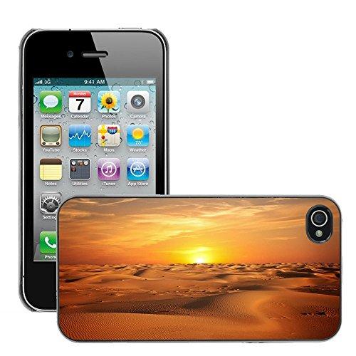 Stampato Modelli Hard plastica Custodie indietro Case Cover pelle protettiva Per // M00421777 Paysage Sable Sunset Sky // Apple iPhone 4 4S 4G