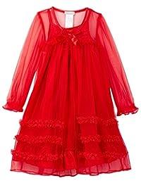 Komar Kids girls Toddler Girls Pink Peignoir Gown Set