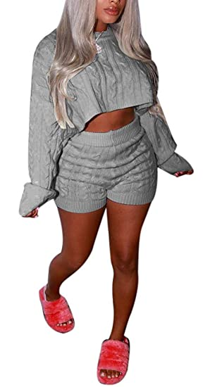 baff294778 Amazon.com: Speedle 2 Piece Sweater Sets for Women Cable Knit Solid ...