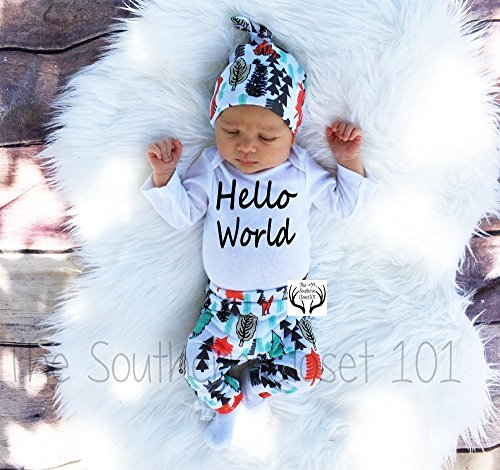 Hello World, Boy Outfit, Boys Clothes by TheSouthernCloset101