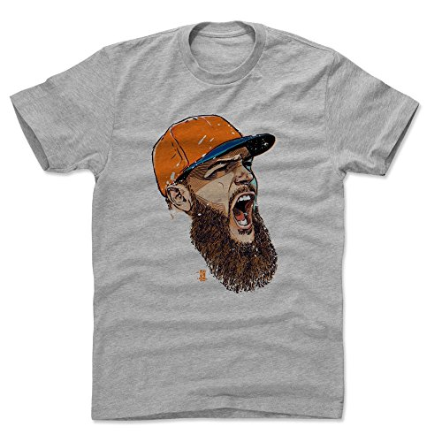 500 LEVEL Dallas Keuchel Cotton Shirt X-Large Heather Gray - Houston Baseball Men's Apparel - Dallas Keuchel Scream O