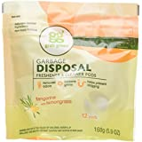 Grab Green Natural Garbage Disposal Cleaner and Freshener, Tangerine with Lemongrass, 12 Pods (Pack of 4)