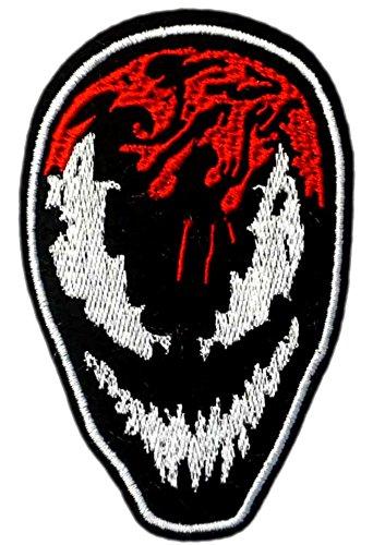 VENOM Patch - SPIDERMAN - Superhero Comics Logos Character Theme Series 2018 New Marvel Movies Embroidered Sew/Iron on Badge DIY (Spider Man Diy Costume Women)