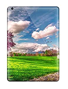Ultra Slim Fit Hard Henry Reynolds Case Cover Specially Made For Ipad Air- Spring.birds Of Passage