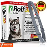 Rolf Club 3D FLEA Collar for Dogs – Flea and Tick Prevention for Dogs – Dog Flea and Tick Control for 6 Months – Safe Tick Repellent – Waterproof Tick Treatment … (65LB)