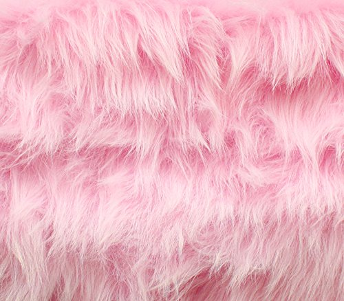 Faux Fur Fabric Long Pile Monkey Shaggy Pink / 60