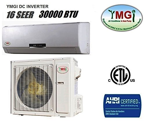 YMGI 30,000 BTU 16 SEER Ductless Mini Split DC Inverter Air Conditioner Heat Pump System - 208-230V 1HP 60 Hz with Free 25 Feet Installation Kit price