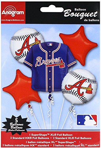 Anagram 32042 Atlanta Braves Balloon Bouquet,
