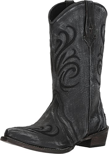 Roper Women's Olivia Black Sanded Leather Vamp 9 M US ()