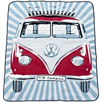VW Collection by BRISA VW Camper T1 XL Picnic Blanket - Red
