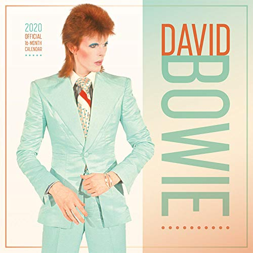 David Bowie 2020 12 x 12 Inch Monthly Square Wall Calendar by Live Nation, Glam Rock Music Singer Songwriter Celebrity