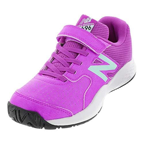 New Balance Girls' 696v3 Hard Court Tennis Shoe Voltage Violet/Light Reef 3.5 M US Big Kid