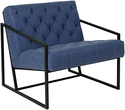 Flash Furniture HERCULES Madison Series Retro Blue Leather Tufted Lounge Chair