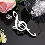1 Set Stainless Steel Music Note Bottle Opener Keychain Pocket Key Ring Chain Wrist Holder Strap Mighty Popular Beer Openers Wall Mounted Corkscrew Vintage Utility Travel Tool Gift