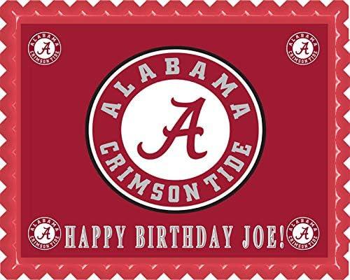 Astonishing Amazon Com Alabama Crimson Tide University Edible Cake Topper Funny Birthday Cards Online Overcheapnameinfo