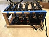 Cryptocurrency Mining Rig 6 GPU RX580 182 MH/s