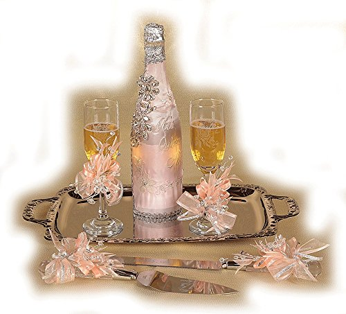 Price comparison product image SB449 Quinceañera Brindis. Champagne set, Cake knife and server included. Blush