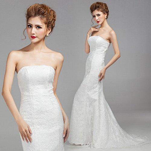 Moderne Kleid Sch Ein Taille S Braut Tattoo War DHG Tattoo Brautkleid Dünne Kleid Dünne ne Brautkleid Schwanz qF4wx5dO5