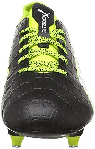 Puma Herren evoTOUCH 3 SG Fußballschuhe Schwarz (black-white-safety yellow 01)