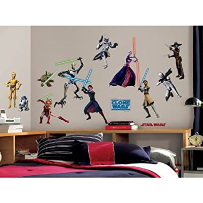 RoomMates RMK1382SCS Star Wars: the Clone Wars Glow in the Dark Wall Decals, Pack of 28: Home Improvement
