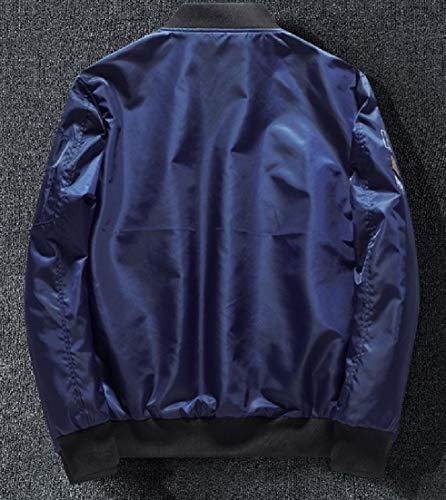 Coat Size Pockets Collar Lounge Stand Pattern2 Zip Men's Plus Jacket Patched AngelSpace qzEwBZS