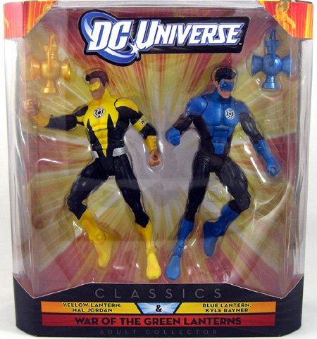 (DC Universe Collector Classics - Yellow Lantern Hal Jordan & Blue Lantern Kyle Rayner Figures)