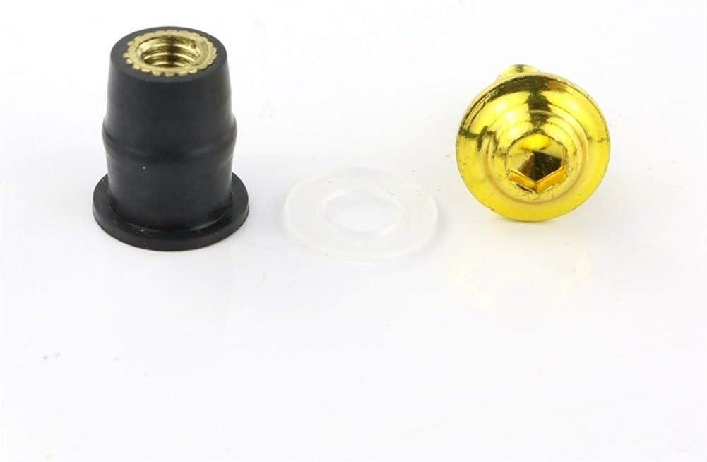 Color : Black Screws Accessories Motorcycle Accessories Alumnium Windscreen Windshield Deflectors Bolt Screw Kit nut Fit for KAWASAKI Ninja ZX6R ZX10R 250R ZX14 for Motorcycle