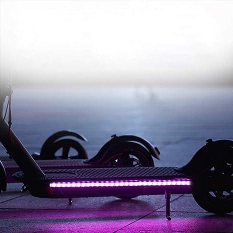 Frontoppy Lámpara de Barra de luz de Tira LED Plegable para Xiaomi Mijia M365 Scooter eléctrico monopatín, luz Decorativa de Seguridad para Ciclismo ...