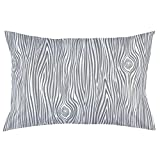 Carousel Designs Gray Large Woodgrain Pillow Case - Organic 100% Cotton Pillow Case - Made in the USA