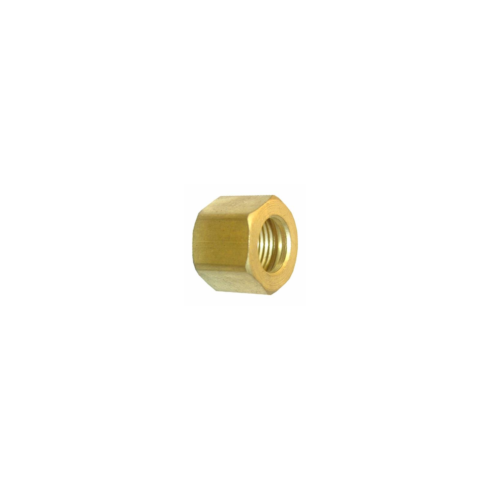 Larsen Supply 17-6111 Pipe Fitting, Compression Nut, Brass, 1/4-In, 2-Pc. - Quantity 6
