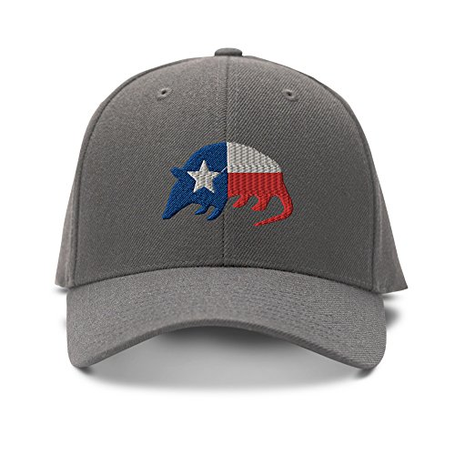armadillo-texas-flag-embroidery-embroidered-adjustable-hat-baseball-cap-dark-gray