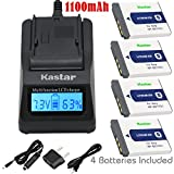 Kastar Fast Charger and Battery (4-Pack) for Sony NP-BD1, NP-FD1, BC-CSD and Cyber-shot DSC-G3, DSC-T2, DSC-T70, DSC-T75, DSC-T77, DSC-T90, DSC-T200, DSC-T300, DSC-T500, DSC-T700, DSC-T900, DSC-TX1