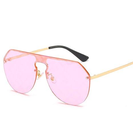 Yangjing-hl Gafas de Sol con Lente siamesa Mujer Big Box ...