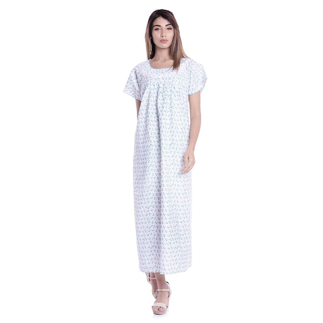 1ba9bff0a4 Nightwear long gown hippie nighty dress flower print sleepwear gown white  clothing jpg 1100x1100 Beach wear