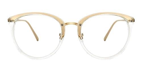 34909575bc TIJN Vintage Round Metal Optical Eyewear Non-prescription Eyeglasses Frame  for Women