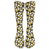 XIdan-die Casual Athletic Socks Yellow Penguins Knee High Tube Socks For Women Men
